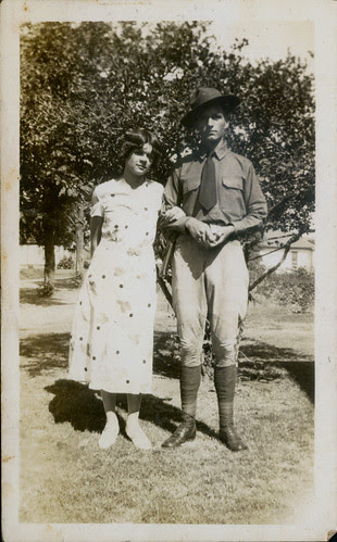 WW1 soldier and his girl