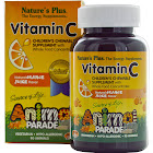 Nature's Plus Animal Parade Vitamin-C, Orange, 250 mg, Tablets - 90 count