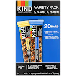 Kind Bars Nuts & Spices, Variety Pack, 1.4 oz, 20-count
