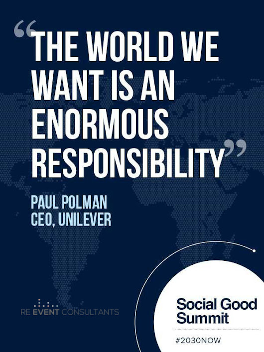 """The world we want is an enormous responsibility"" ... 