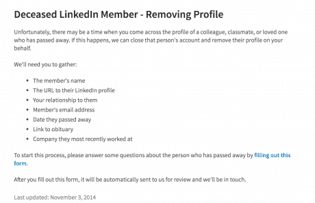 Removing a Deceased Person's LinkedIn Profile | Intero Advisory