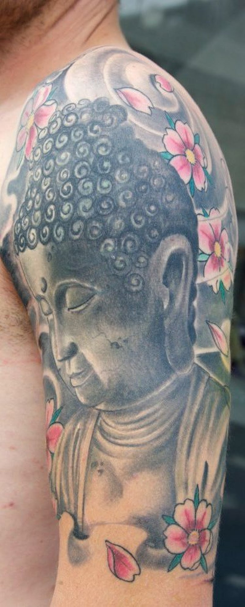 Half Sleeve Buddhist Tattoo Design Tattoos Book 65000 Tattoos