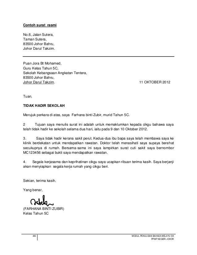 contoh surat rasmi memohon bekalan elektrik contoh o