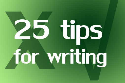 25 tips to punch up your writing