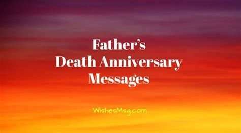 Death Anniversary Messages For Father   Remembrance Quotes