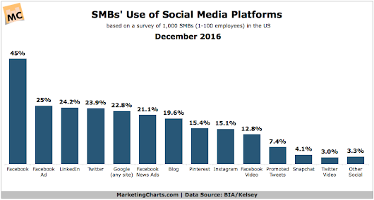 SMBs' Use Of Social Media By Platform