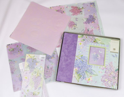 Beautiful Lilac Floral Post-Bound Scrapbook by EndlessChoicesShop