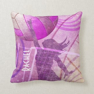 Girls' Volleyball Throw Pillow