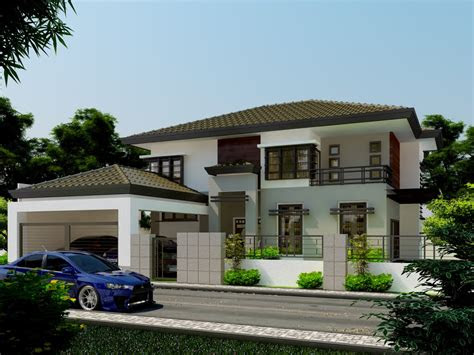inspriational double storey residential house home design