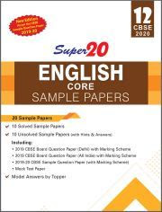 SUPER 20 ENGLISH SAMPLE PAPERS CLASS 12