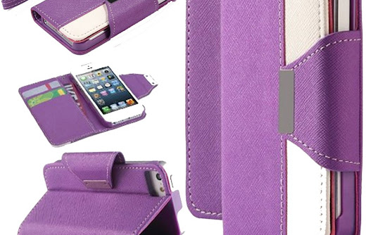 iPhone 6S Case,Nakeey iPhone 6S Wallet Case [White/Purple] - PU Leather Wallet Cover with [Card Slots] and [Stand] Function for iPhone 6S 4.7 inch --on amazon/by amazon