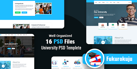 Fukurokuju - University PSD Template