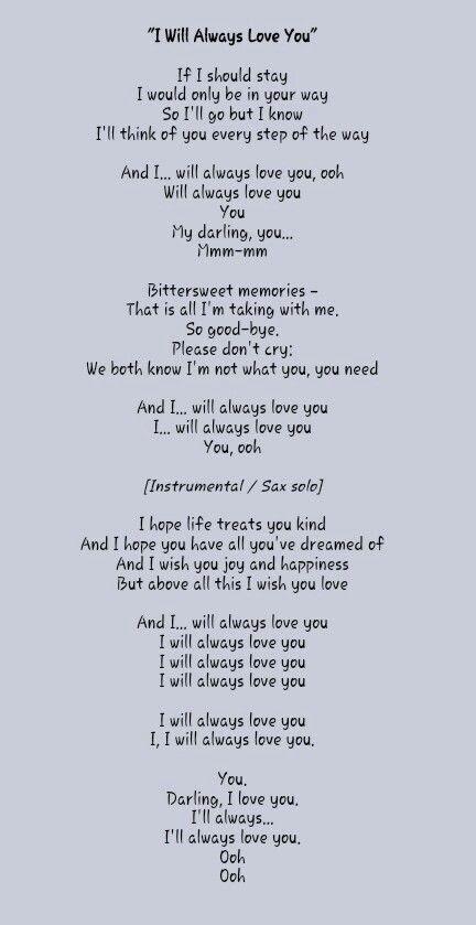 I Hope You Know I Love You Lyrics