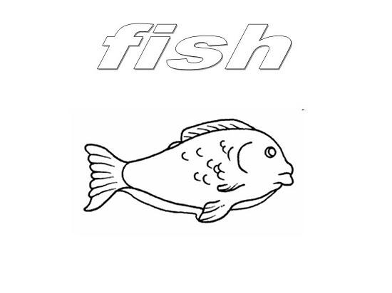 Dibujo De Un Pescado Para Pintar
