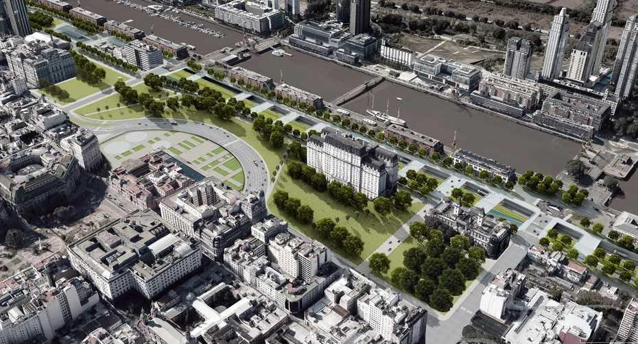 Cómo será el Parque del Bajo, un nuevo pulmón verde de 60 mil metros cuadrados