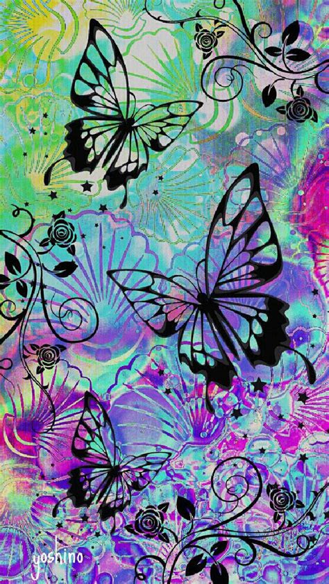 colorful   butterfly ios  wallpapers