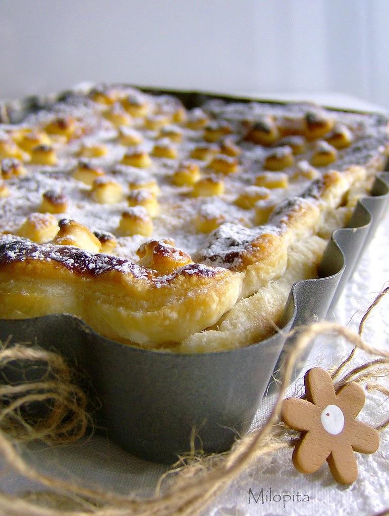 Milopita ;pastel griego  de manzanas