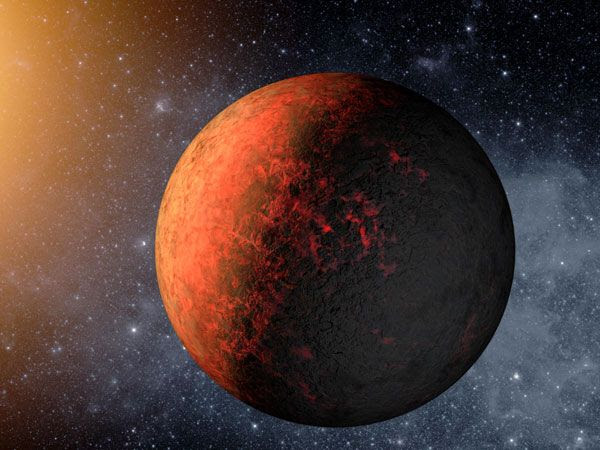 An artist's concept of the exoplanet Kepler-20e.
