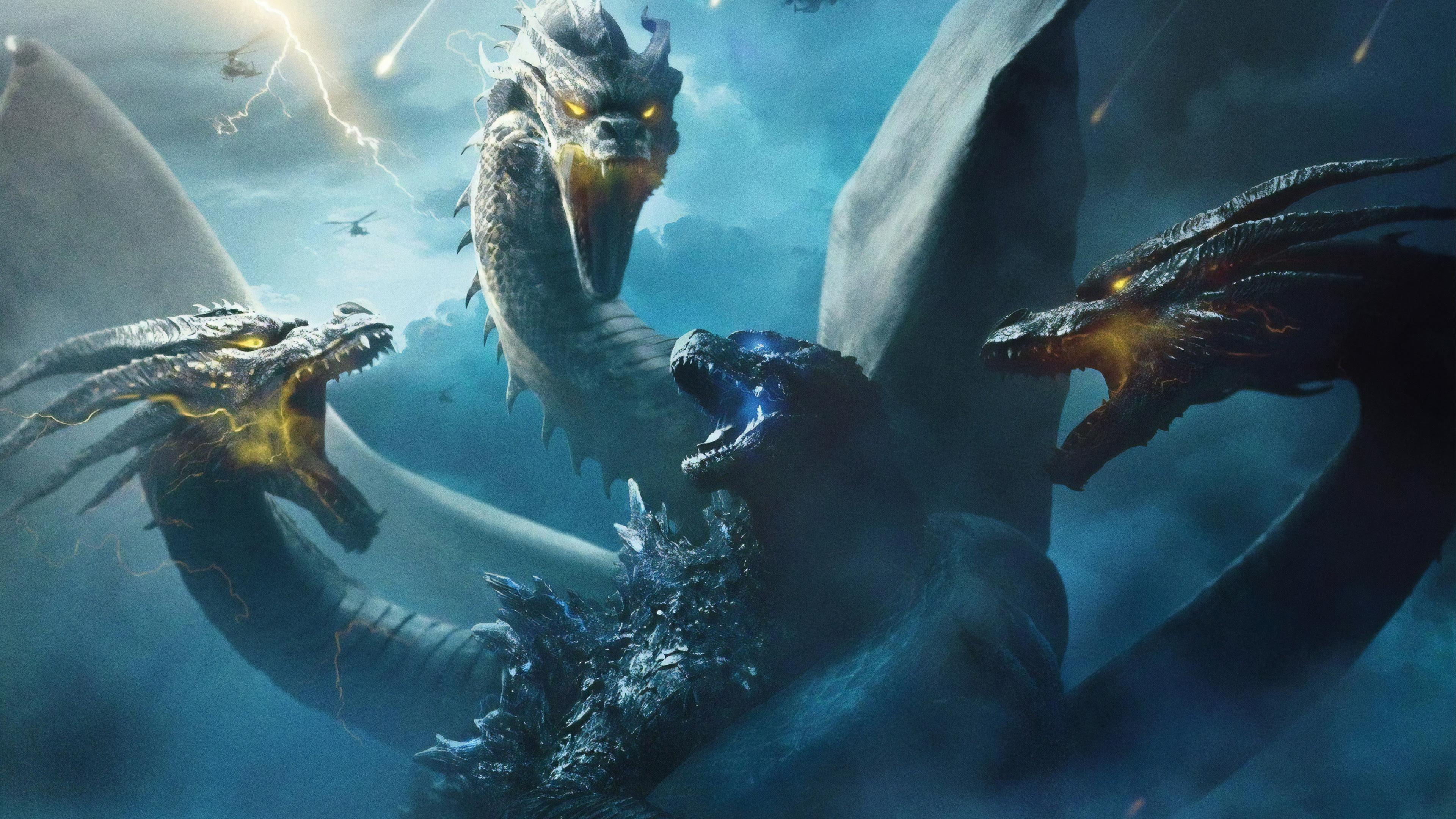 Godzilla King Of The Monsters King Ghidorah 4k Wallpapers Hd