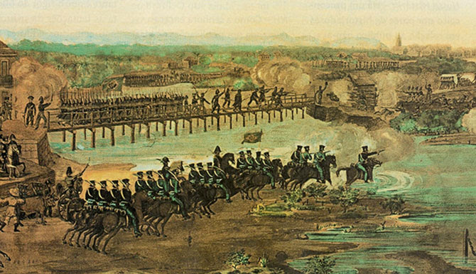 Ataque do Exército Imperial do Brasil contra os confederados  em 1824 no Recife.