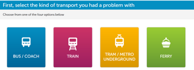 FixMyTransport options