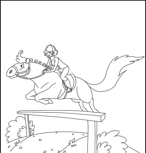 ausmalbilder pferde und mädchen  mädchen mit seinem pferd
