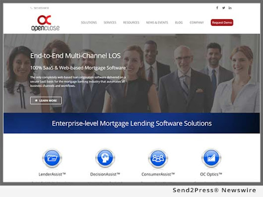 OpenClose Launches Corporate Website to Reflect New Positioning of its Enterprise-class, Multi-channel LOS and Mortgage Software Solutions | Send2Press Newswire