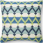"Loloi Blue / Green Pillow P0340 22"" x 22"" - Down"