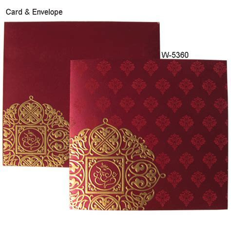 W 5360   Hindu Wedding Cards   Order Now