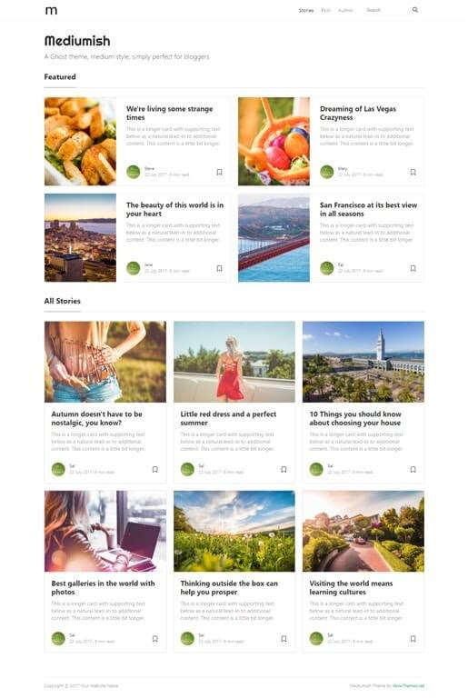 Mediumish - Free Bootstrap 4.0 HTML Template Medium Styled - Wow Themes