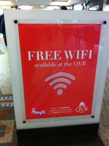 Free wifi at the QVB by ellen forsyth