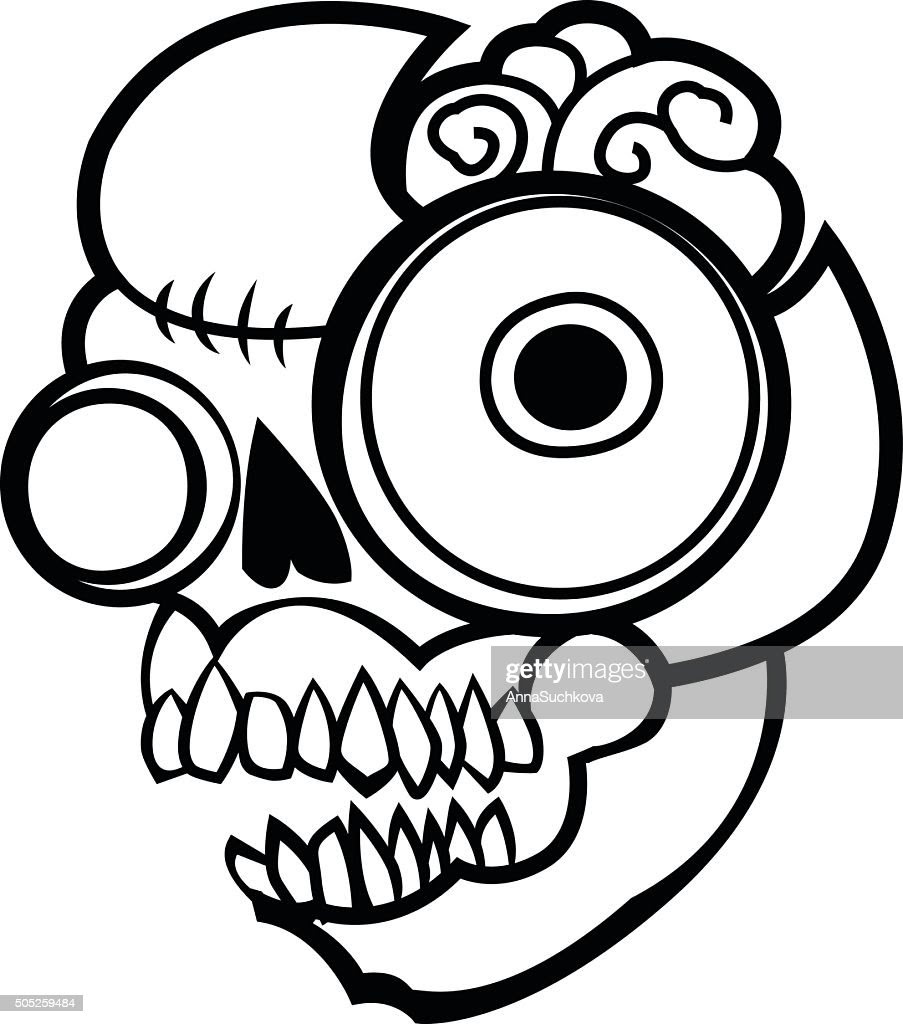 44 Gambar Hitam Putih Zombie HD Gambar Keren