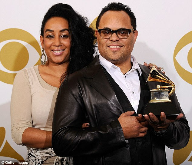'I failed and sinned in my marriage': Grammy Award winner Israel revealed last month that he and Meleasa (who he is pictured with in 2011) had split due to his past infidelity five years ago
