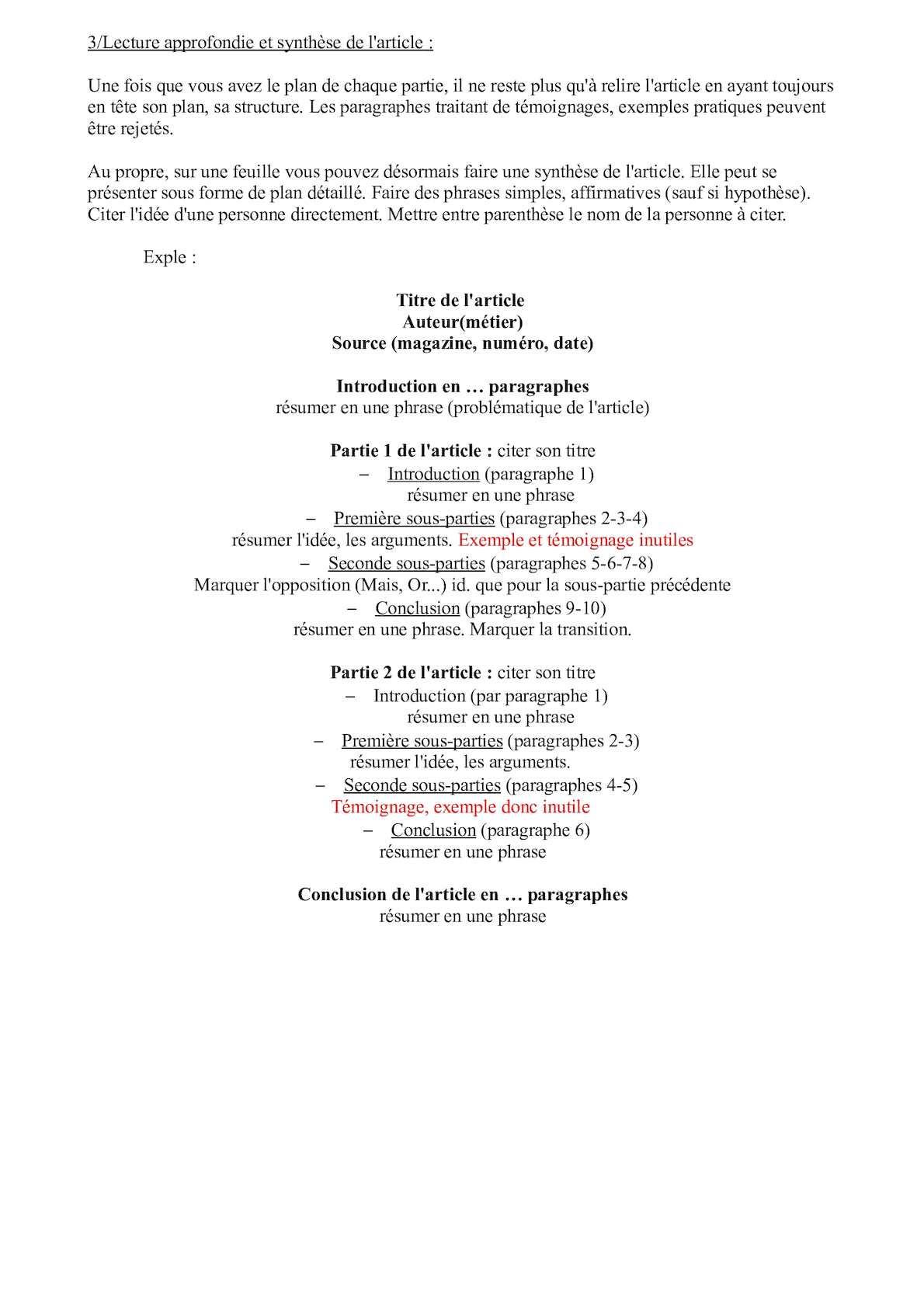 Exemple Introduction De Note De Synthese