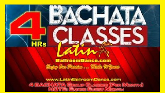 "4 GROUP Classes ""BACHATA"" / ($15 Per Hrs Class) ON SPECIAL $60"