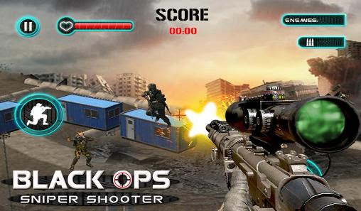 Screenshots of the Black ops: Sniper shooter for Android tablet, phone.