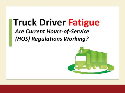 Truck Driver Fatigue: Are Current HOS Regulations Working?