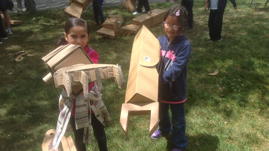Kid-Sized Giant Cardboard Robot Arms
