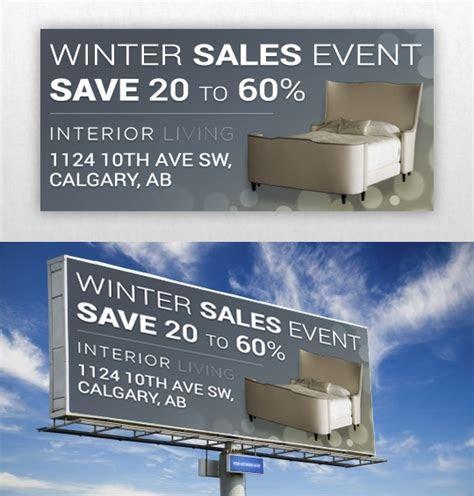 Elegant, Upmarket, Furniture Store Billboard Design for a