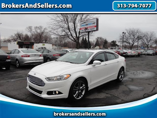 Used 2013 Ford Fusion for Sale in Detroit MI 48180 BrokersAndSellers.com