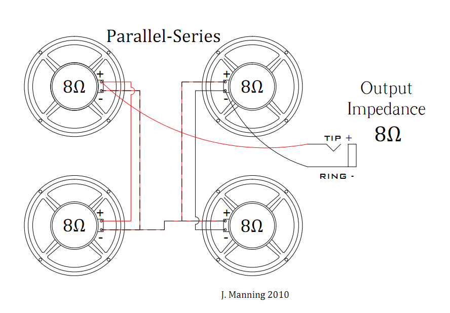Series Parallel Wire Diagram For Four Speakers : 46 Wiring