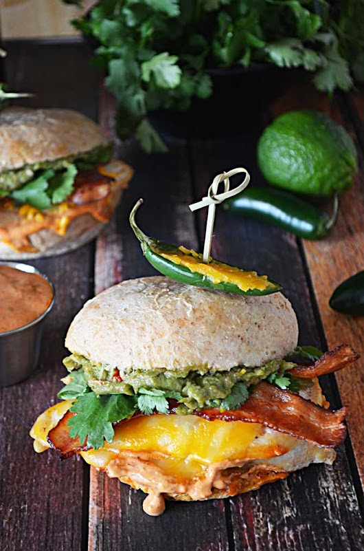 Tequila Lime Chicken Sandwiches with Guacamole and Chipotle Mayo - Host The Toast