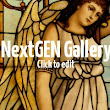 """Angel"" stained glass Driehaus Gallery Navy Pier Chicago"