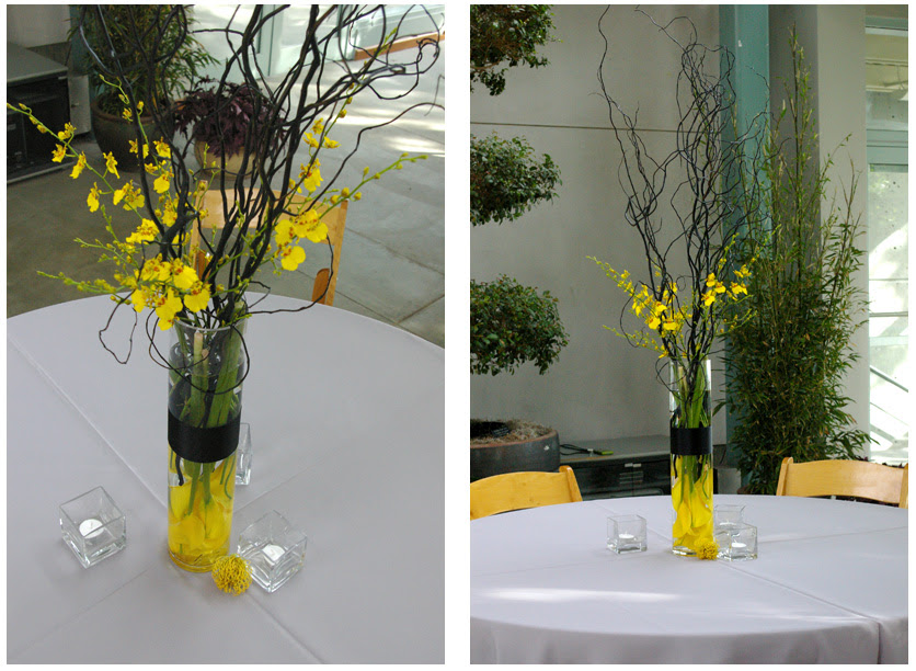 Gray and yellow wedding centerpieces wedding decorations gray and yellow wedding centerpieces junglespirit Image collections