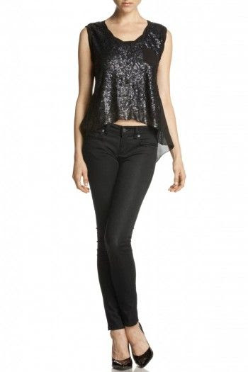 Miss Me Sheer Sequin Tank