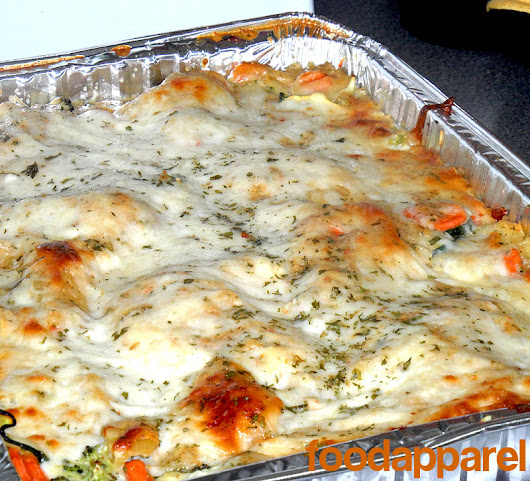 Vegetable Lasagna with White Sauce | Food Apparel