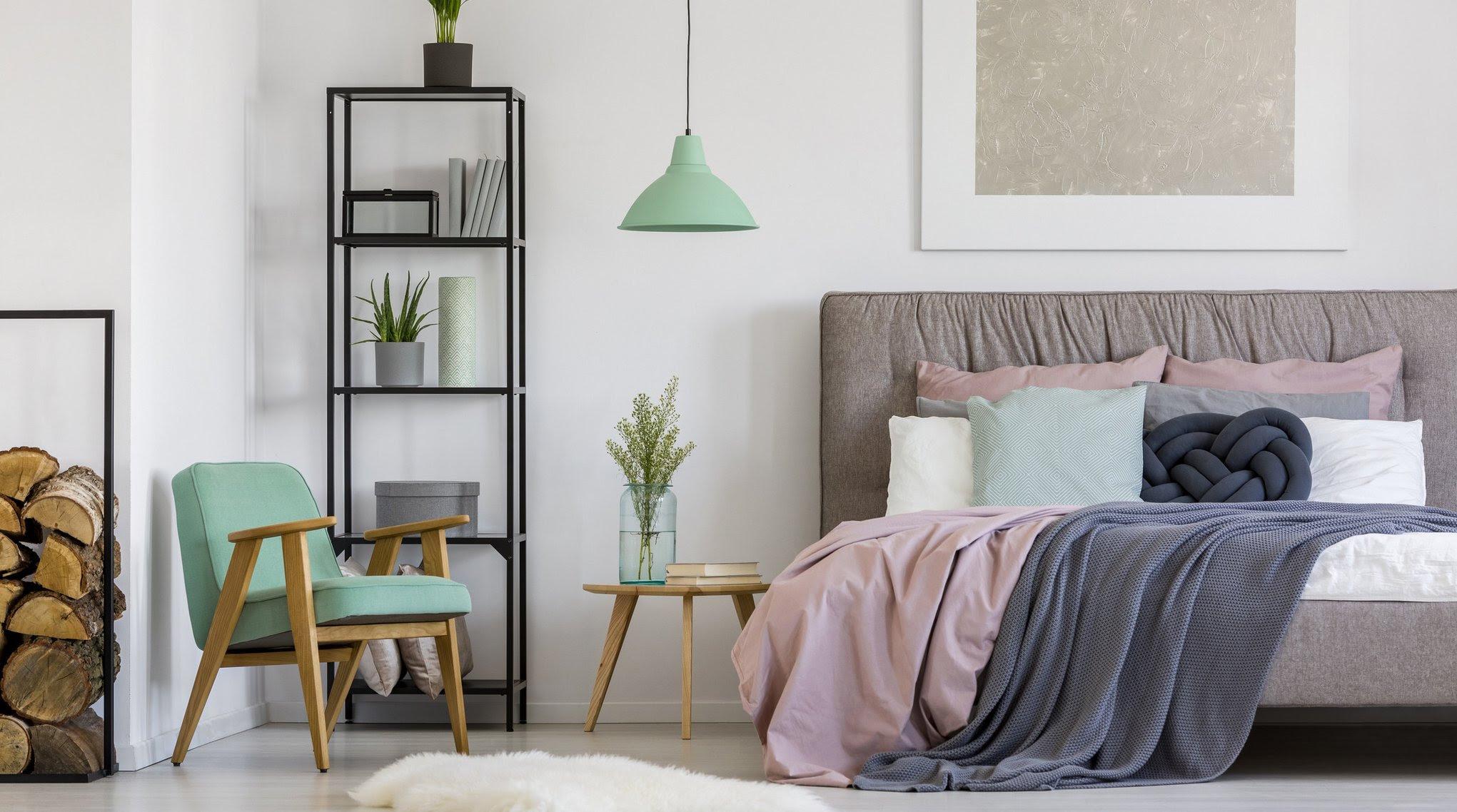 schlafzimmer wanddeko metall wanddekoration ideen holz