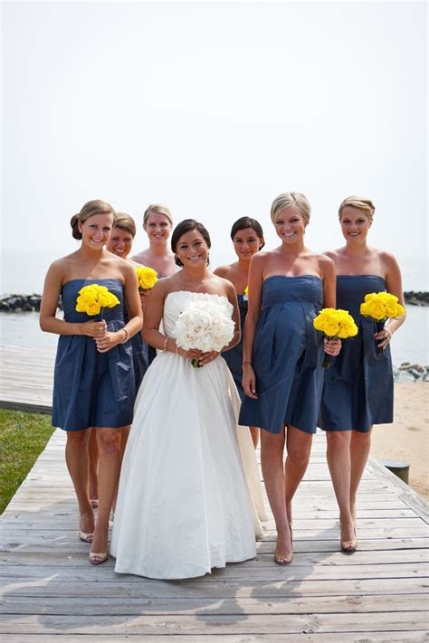 66 best ideas about Yellow & Navy Wedding Colors on