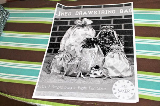 Crafty Me: Drawstring Bag Sewing Project - FabGrandma