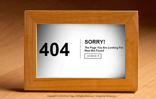 404 Error Page a Flat Responsive Widget Template